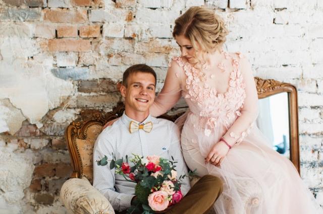 Михаил Слинкин с женой Анной