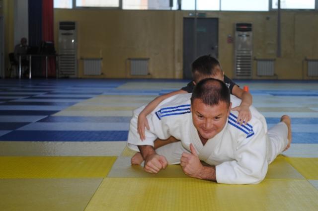 Тренировка с папой - это здорово!