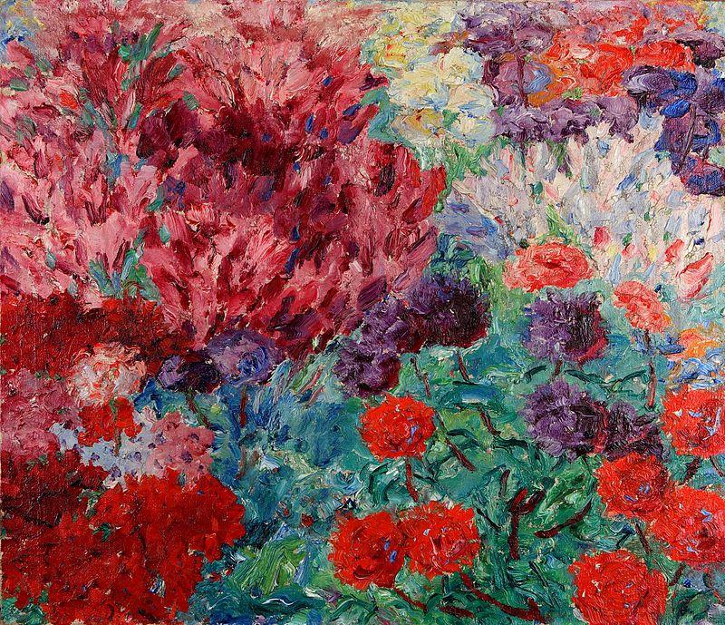 Эмиль Нольде. Картина Садовый цветок