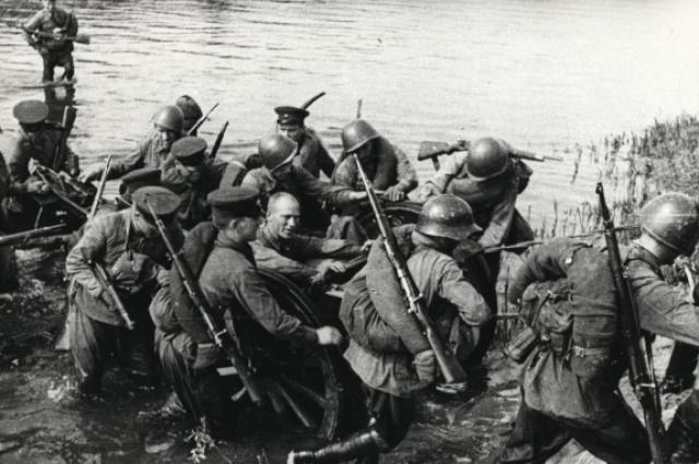 Переправа через Угру. Осень 1941 года.