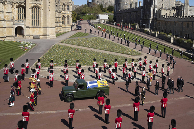 Funeral of Prince Philip in Windsor.