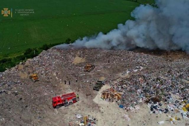 Пожар в Тернопольской области.