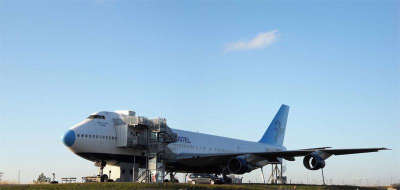 Boeing-747 в аэропорту Арланда, переоборудованный в отель