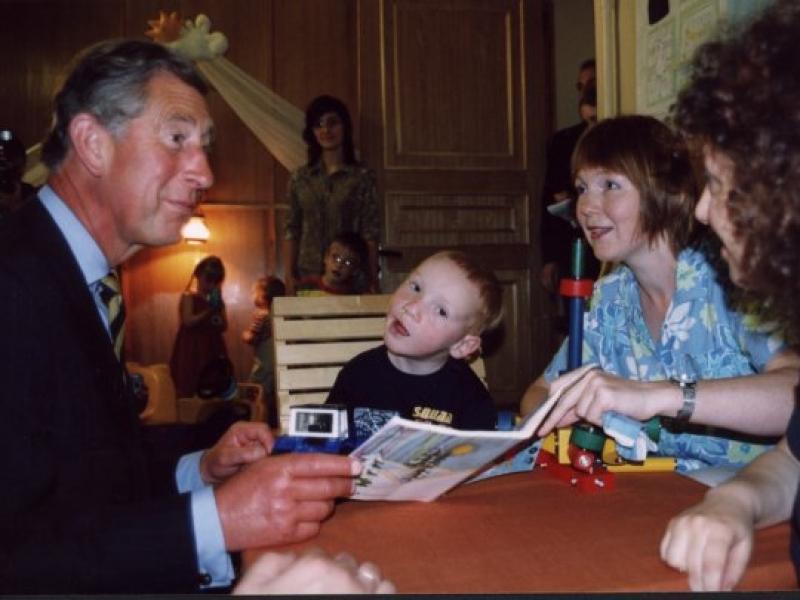 В Институте раннего развития Ване довелось пообщаться с принцем Чарльзом.