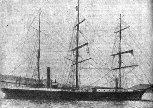 Таким барк «Эклипс» отправлялся на поиски полярных экспедиций.