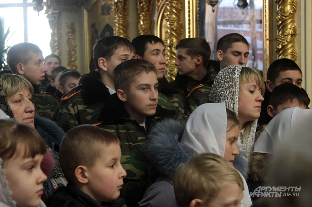 На службе в Казанском соборе Волгограда