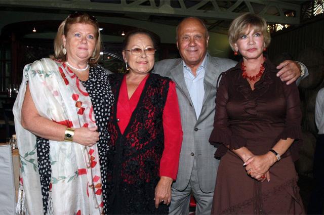 Ирина Муравьева, Раиса Рязанова, Владимир Меньшов, Вера Алентова. 2009 год.