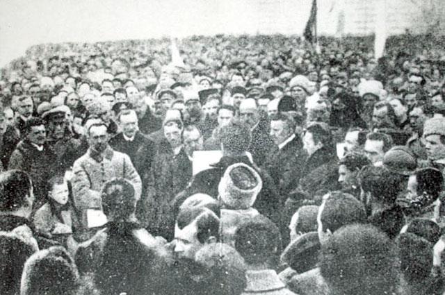 Торжественное оглашение Акта Злуки на Софийской площади. Киев, 22 января 1919 года