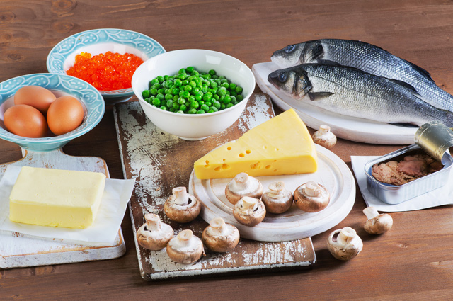Продукты, в которых содержится витамин Д.