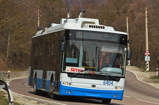 Троллейбус в Крыму.