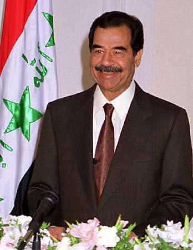 Саддам Хуссейн.
