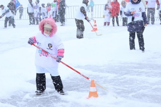 эстафета на льду, Всероссийский день снега