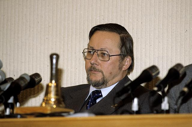 Председатель Верховного Совета Литвы Витаутас Ландсбергис, 1991 год.