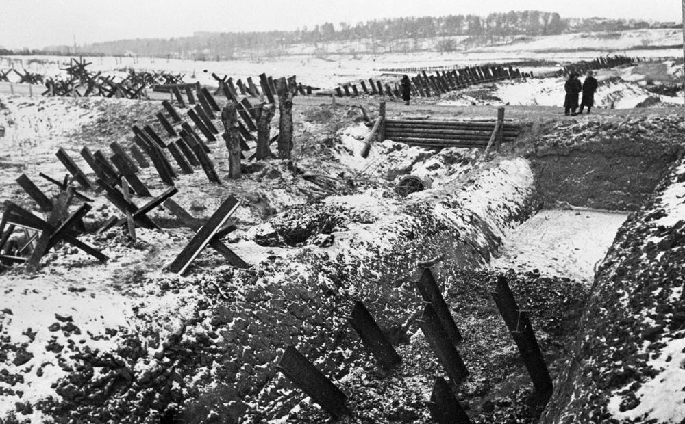 Противотанковые укрепления под Москвой. 1 декабря 1941 г.