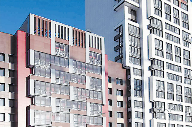 Вариант внешнего вида жилых домов, которые будут построены по программе реновации.