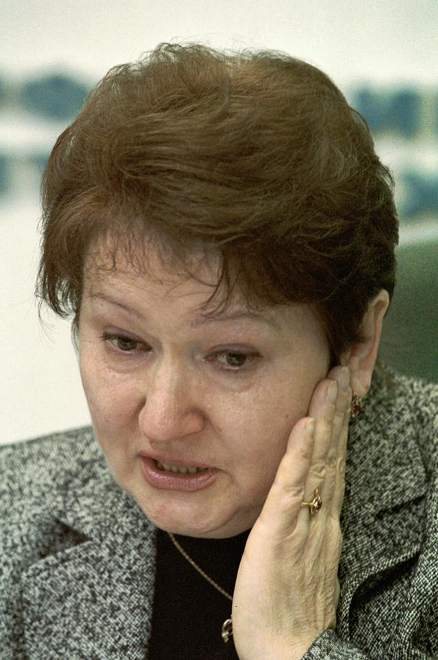 Жена бывшего главнокомандующего Внутренними войсками МВД РФ Анатолия Романова Лариса Романова.