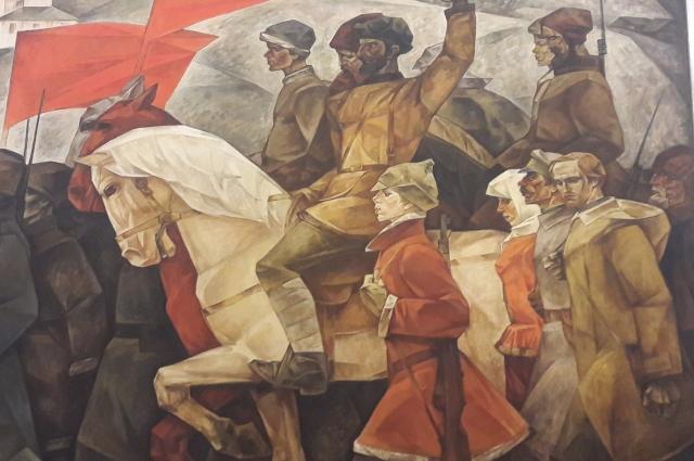 «На Колчака», И. Наседкин, 1967 г. Холст, темпера. Из фондов музея им. М. Врубеля.