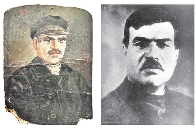 Реальный Яков Юровский (на фото справа) на свой предполагаемый портрет похож не очень.