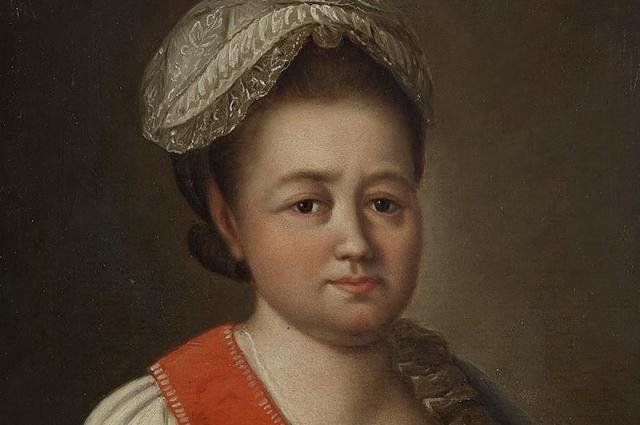 Портрет Елизаветы Романовны Воронцовой кисти неизвестного мастера.