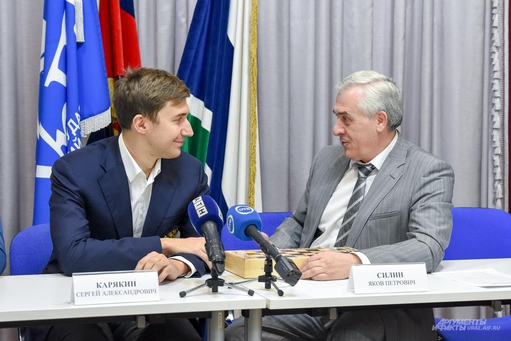 В начале января после новогодних каникул экономический вуз посетил гроссмейстер Сергей Карякин.