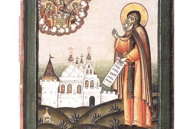 Святой благоверный князь Даниил. Фрагмент иконы.