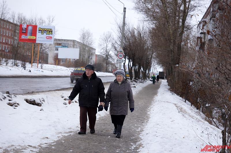Ближе к полудню в центре Соликамска немноголюдно