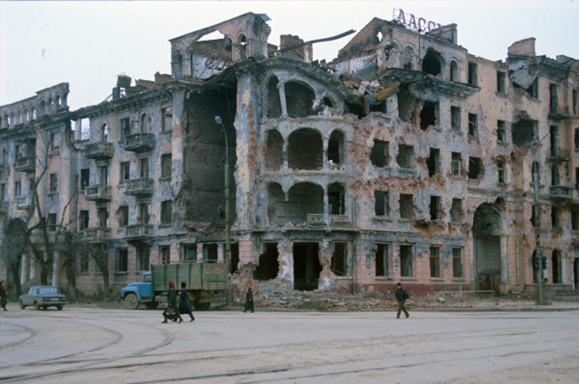 Город Грозный во время Чеченского конфликта 1994 1996 годов