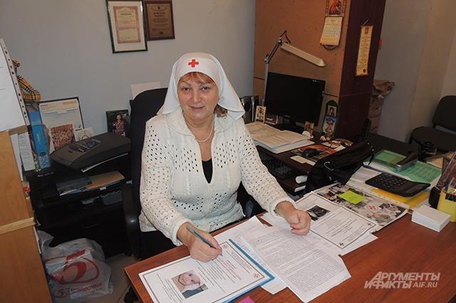 Разрешать все конфликты помогает старшая сестра милосердия Ольга Егорова