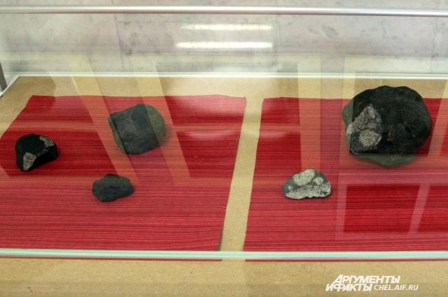 Найденные осколки челябинского метеорита