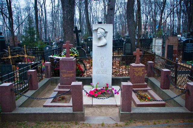 Могила М. П. Максаковой на Введенском кладбище
