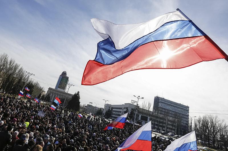 Пророссийская акция протеста в Донецке