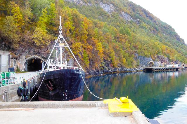 Норвежская подземная база Олавсверн для подводных лодок. Похожее сооруже- ние есть и на Чёрном море в Балаклаве, которое сейчас используется как музей.