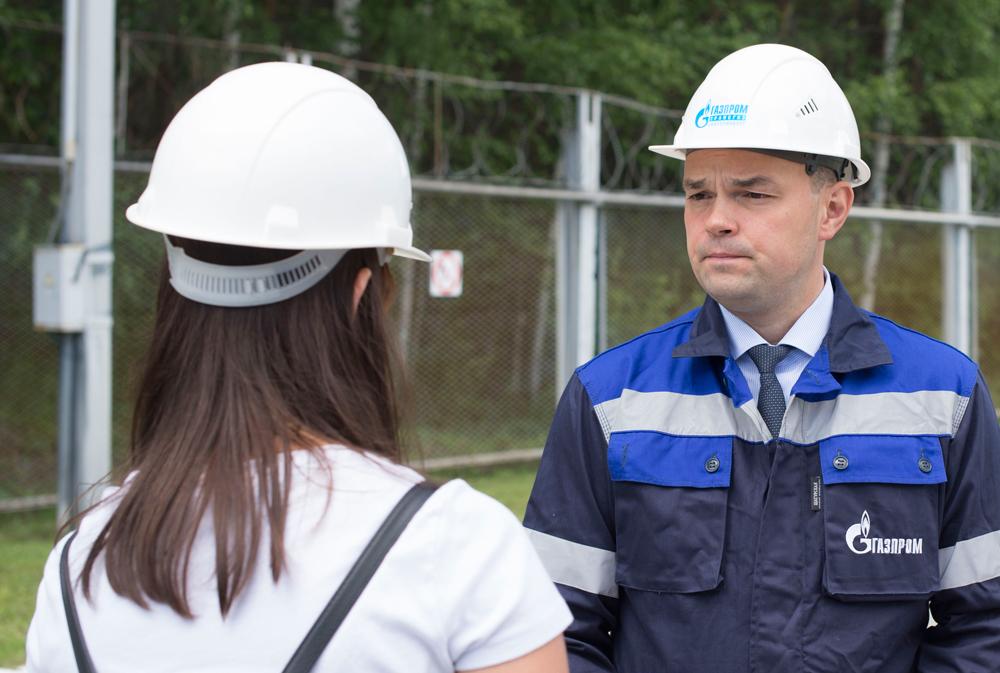 АВ Крюков на комплексе по производству СПГ на ГРС-4 Екатеринбурга.