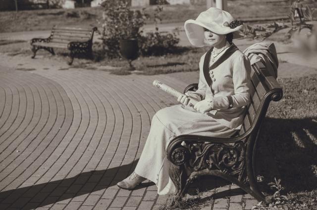 Юлия Казанская - Костюм для гуляний, г. Белев, Тульская губерния, 1911 год.