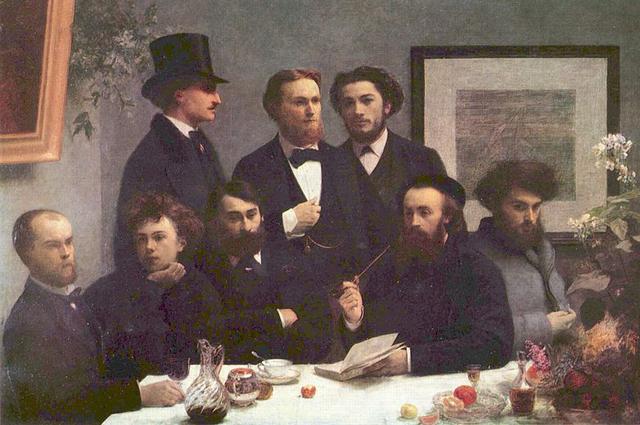 Верлен и Рембо (слева внизу) на картине Анри Фантена-Латура.