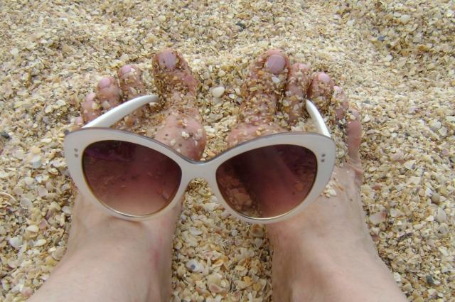 На феодосийском пляже.