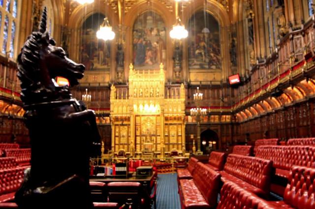 Палата лордов Британского парламента.