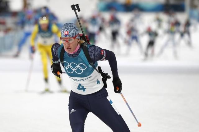 Анастасия Кузьмина из Словакии выиграла золото в биатлоне