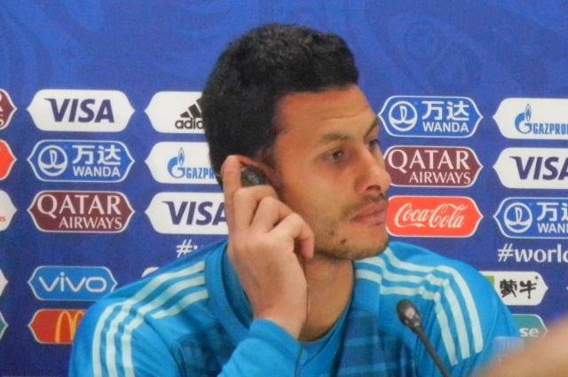 Лучший игрок встречи в составе египтян - вратарь Эль-Шенави.