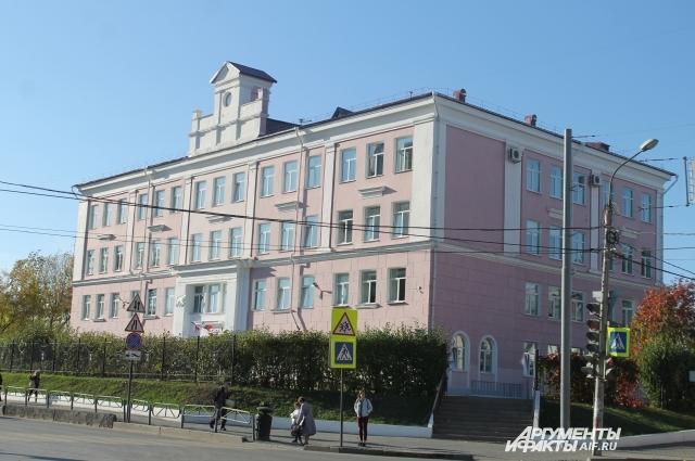 Школьницу с розовыми волосами не пустили в здание гимназии.