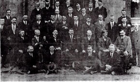 Члены Лимерикского забастовочного комитета.