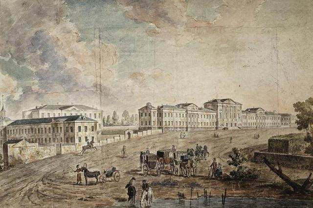 Военный госпиталь в Лефортово, начало XIX века.