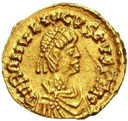 Тремиссис с портретом Ромула Августа.