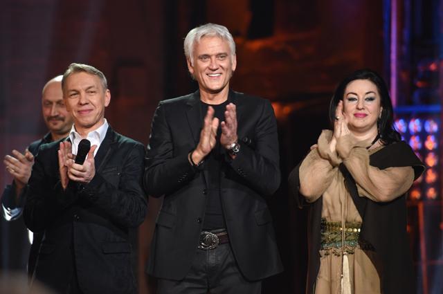 Музыкант Александр Ф. Скляр, певец Александр Маршал и певица Тамара Гвердцители.