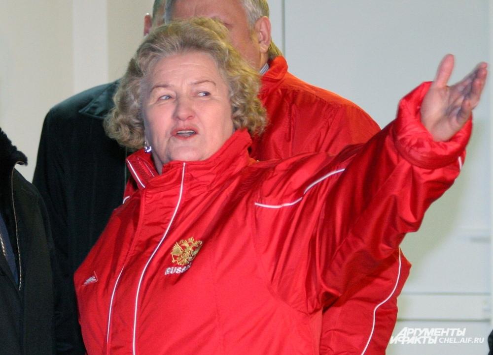 Лидия Скобликова приезжала в Челябинск для участия в эстафете олимпийского огня.