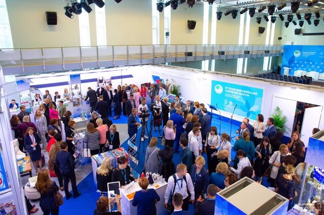 Более двух тысяч участниц со всего мира приехали в Петербург на Второй Евразийский женский форум.