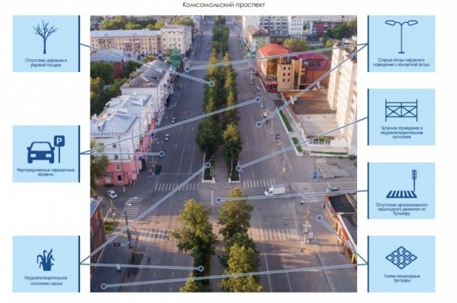 Схема нововведений на главной улице.