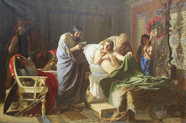 Доверие Александра Македонского к врачу Филиппу[95] (худ. Г. Семирадский, 1870)