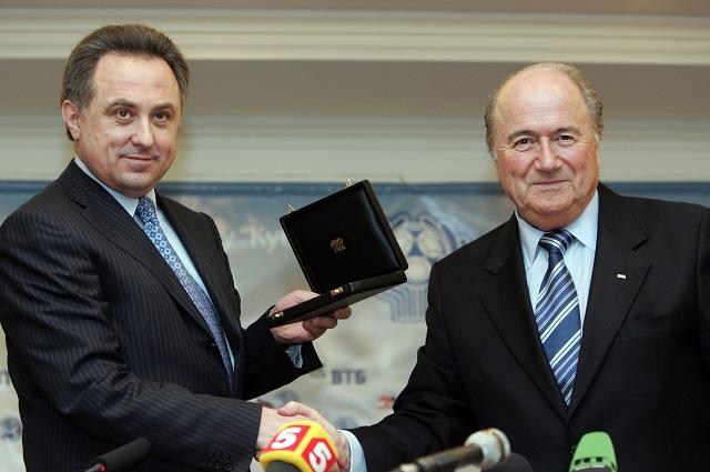Йозеф Блаттер и министр спорта РФ Виталий Мутко.