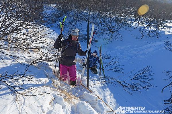 Лыжная прогулка.
